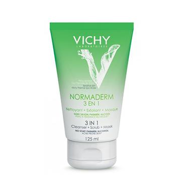 Глубокое очищение 3-в-1 VICHY NORMADERM гель + скраб + маска